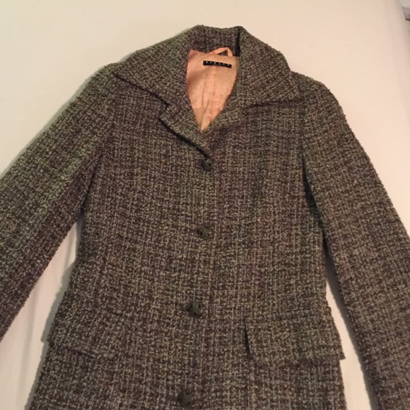 Sisley by Benetton tweed wool coat. M 587aa2494e8d175495059940 6c2a713f5