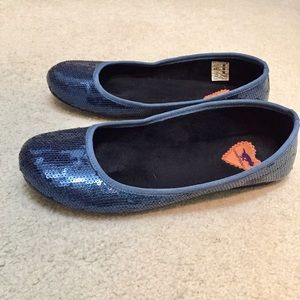 Rocket Dog Shoes - Sparkly blue ballet flats