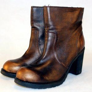 """REBELS Shoes - Rebels Metallic Booties with Inside Zip """"Jenkins"""""""