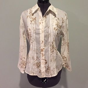 Floral blouse with back detail