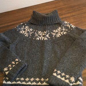 J.Crew Wool Fair Isle Turtleneck Sweater