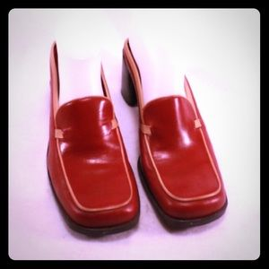 Parade Shoes - Parade Red and Tan Leather Mules