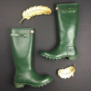 Hunter Shoes - HUNTER Original Green Wellington Boots