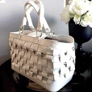 ZARA Leather XL Tote Bag