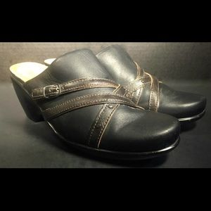 NAOT Shoes - NAOT Black and Brown Leather Mules