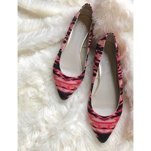 Size 8 {Express} Watercolor Pointy Toe Flats