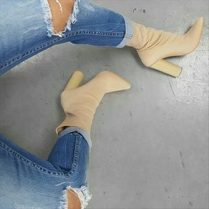 Cape Robbin Shoes - Paw-1 Nude Sock Bootie