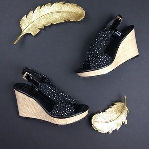 kate spade Shoes - Kate Spade New York Peeptoe Woven Sandal Wedge