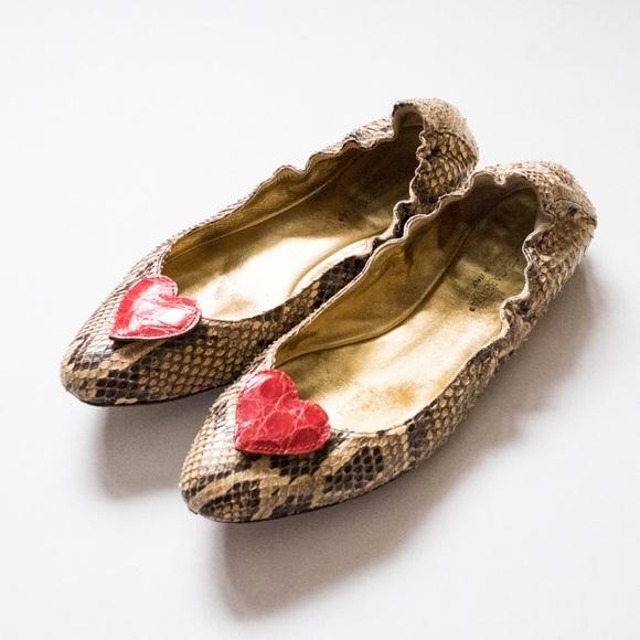 fast delivery Dolce & Gabbana Snakeskin Ballet Flats buy sale online U7ImMV