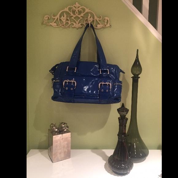 f28bd3964bb954 Fab Michael Kors Royal Blue Patent Leather Bag! M_587aac422fd0b7a31e05451c