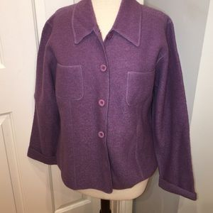 Lisa International Jackets & Blazers - Wool boucle purple jacket