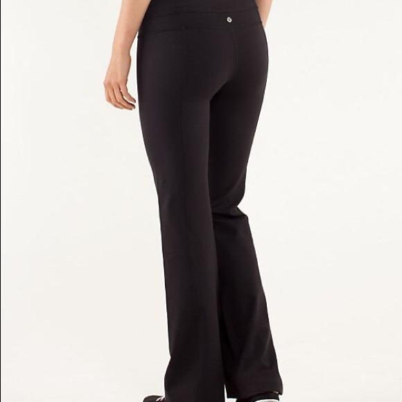 6bba9b80da lululemon athletica Pants - Lululemon straight leg yoga pants 6 black
