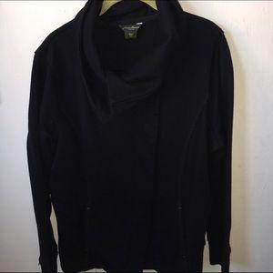 Eddie Bauer Jackets & Blazers - Eddie Bauer Black Sweater Jacket Size XXL