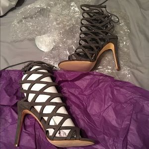 Shoes - Grey heels- WILL SHIP DEC 23- in time for NYE