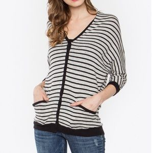 SALE Paradise Cove Striped Hooded Sweater