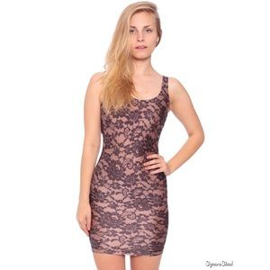 American Apparel Lace Printed Tricot Tank Dress