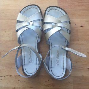 Gold Saltwater Sandals