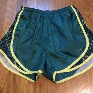 Nike tempo dri fit running shorts.