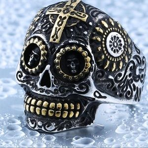Other - Unisex Skull Biker Ring for Men or Women-Stainless
