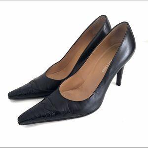 Sergio Rossi Shoes - Sergio Rossi Pelle Matis Nero/Zast Pumps