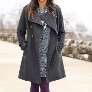 Old Navy Jackets & Blazers - gray military button coat