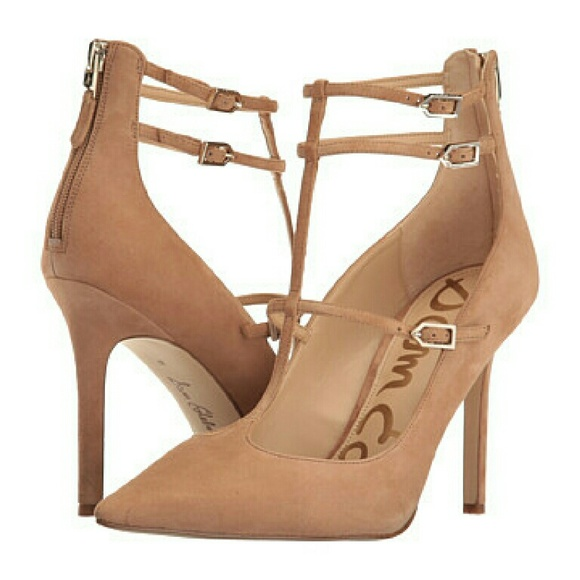 d526f73761d8d Sam Edelman- sexy nude suede heels  hayes -Nwt