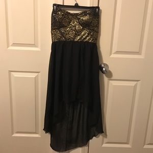 Strapless High-Low Dress