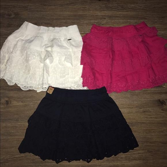 bb55415ac Hollister Skirts   Ruffle Mini Skirt Lot Shorts Tops   Poshmark