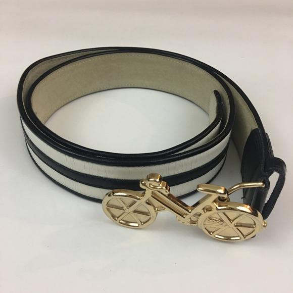 Cynthia Rowley Accessories - Cynthia Rowley Black & White Bicycle Belt