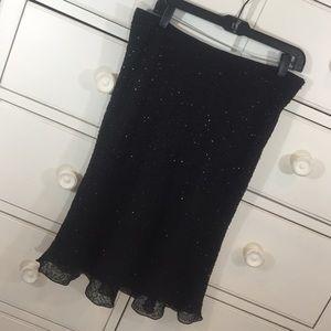 Beaded black skirt