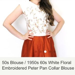 Beautiful vintage 1950-60s embroidered top