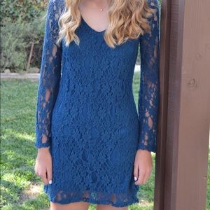 Dresses & Skirts - Blue Lace dress Homecoming