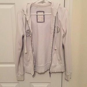 Tops - White Aeropostale zip up hoodie