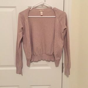 Sweaters - Beige button cardigan