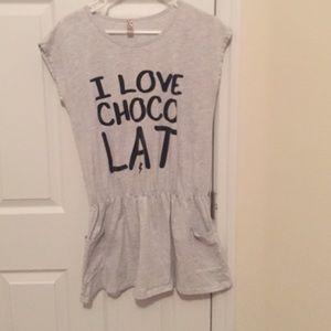 Dresses & Skirts - I love chocolate shirt dress
