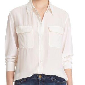 Equipment Tops - 🆕NWT Equipment Signature Silk Blouse Bright White