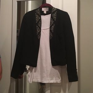 H&M Jackets & Blazers - Never worn H+M black cardigan with beaded sequins