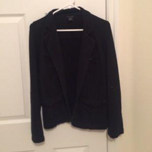 Jackets & Blazers - Black button up semi-formal blazer