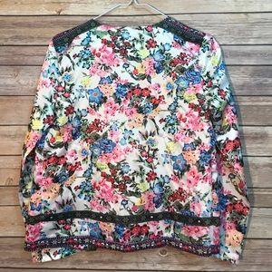 Jackets & Coats - Vintage Style Floral Blazer