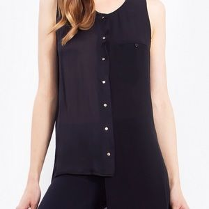 Sheer Hi Low Tank Blouse