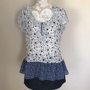 Sunny Leigh Tops - Sunny Leigh chiffon sleeveless blouse