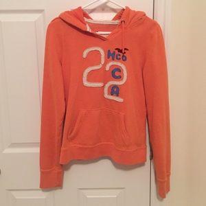 Tops - Orange Hollister hoodie