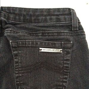 Michael Kors Black Straight Leg Skinny Jean Pants