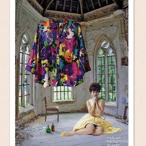 Lauren Ralph Lauren Colorful Floral Button Down