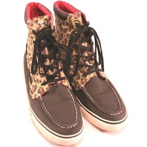 Sperry Top-Sider Shoes - SPERRY TOPSIDER Navy and Cheetah Print Shoes