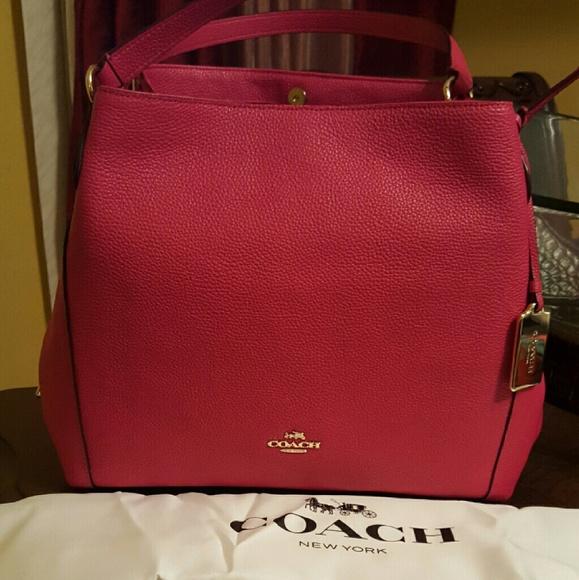 43% off Coach Handbags - Coach Edie Shoulder Bag Cerise Pink from ...