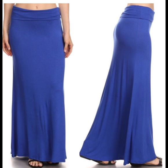 33ce844c400df Royal Blue Plus Size Maxi Skirt Size 1X 2X -3X 4X