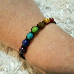 Jewelry - nip- 7 Chakra Healing balance beads bracelet