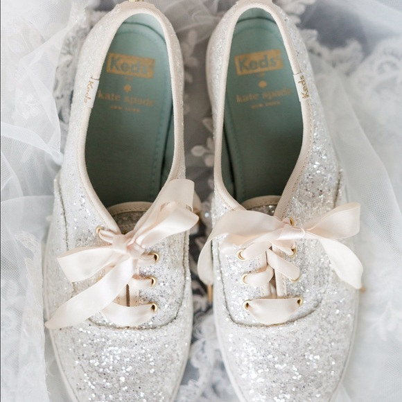 Kate spade shoes glitter keds wedding poshmark kate spade glitter keds shoes wedding junglespirit Images