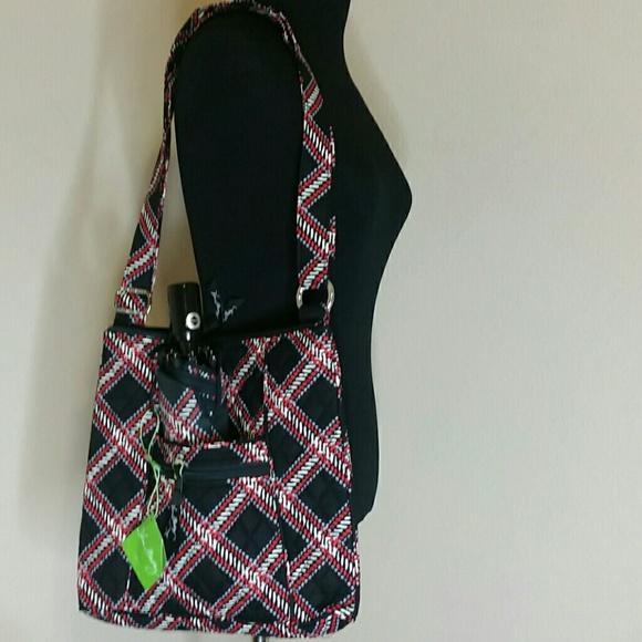 c85823f4dd Lot of 2 Vera Bradley Hipster Plaid Bag   Umbrella